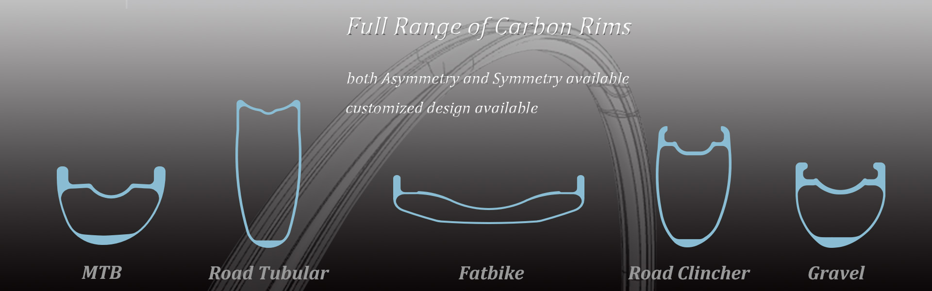 LightCarbon full range of carbon rims